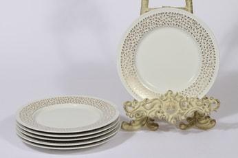 Arabia Kimmel lautaset, 6 kpl, suunnittelija Esteri Tomula, pieni