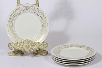 Arabia Kimmel lautaset, 5 kpl, suunnittelija Esteri Tomula, pieni