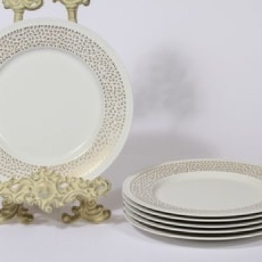 Arabia Kimmel lautaset, 6 kpl, suunnittelija Esteri Tomula, serikuva