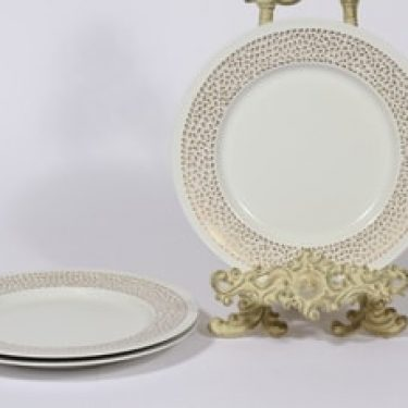 Arabia Kimmel lautaset, 3 kpl, suunnittelija Esteri Tomula, pieni