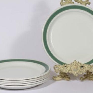 Arabia Taverna lautaset, matala, 6 kpl, suunnittelija , matala, raitakoriste, matala