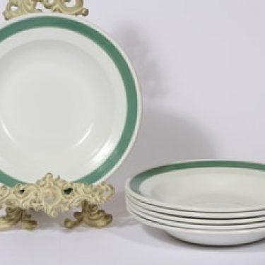 Arabia Taverna lautaset, syvä, 6 kpl, suunnittelija , syvä, raitakoriste, syvä