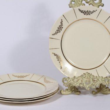 Arabia Irja lautaset, matala, 4 kpl, suunnittelija , matala, painettu, matala