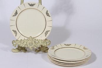 Arabia Irja lautaset, 6 kpl, suunnittelija , pieni, kultakoriste