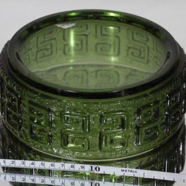 Riihimäen lasi Taalari kulho, vihreä, suunnittelija Tamara Aladin, massiivinen kuva 2