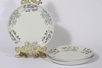 Arabia Hilkka lautaset, matala, 4 kpl, suunnittelija Esteri Tomula, matala, serikuva, matala