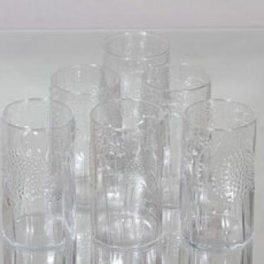 Nuutajärvi Flora lasit, 30 cl, 6 kpl, suunnittelija Oiva Toikka, 30 cl, 30 cl