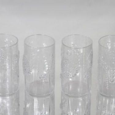 Nuutajärvi Flora lasit, 20 cl, 4 kpl, suunnittelija Oiva Toikka, 20 cl, 20 cl
