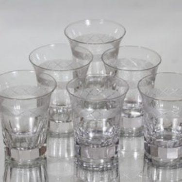 Nuutajärvi Antica lasit, 15 cl, 6 kpl, suunnittelija , 15 cl, hiottu, 15 cl