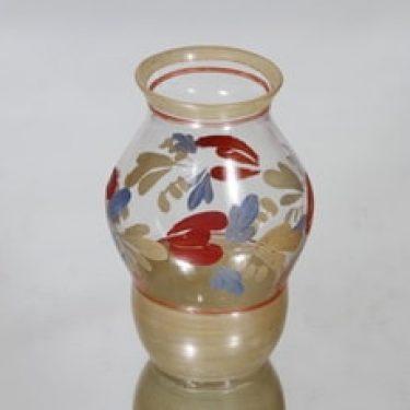 Kauklahden lasi maljakko, käsinmaalattu, suunnittelija , käsinmaalattu, pieni, käsinmaalattu