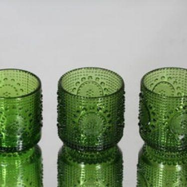 Riihimäen lasi Grapponia juomalasit, vihreä, 3 kpl, suunnittelija Nanny Still,
