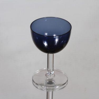 Nuutajärvi 1125 liköörilasi, sininen, suunnittelija Saara Hopea,