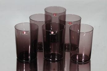 Iittala i-104 lasit, I-väri, 6 kpl, suunnittelija Timo Sarpaneva, I-väri, I-väri