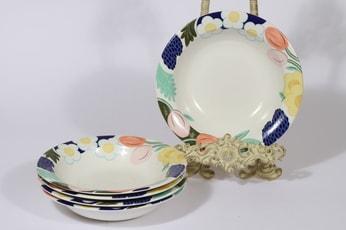 Arabia Arctica Poetica lautaset, syvä, 5 kpl, suunnittelija Dorrit von Fieandt, syvä, serikuva, syvä