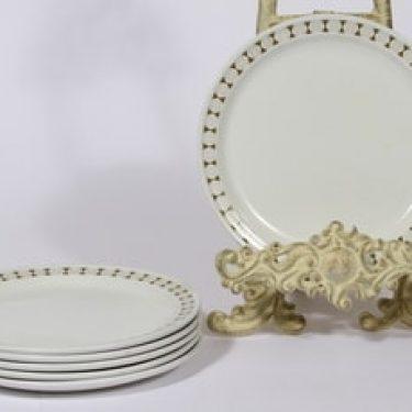 Arabia Seita lautaset, 6 kpl, suunnittelija Raija Uosikkinen, pieni