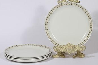 Arabia Seita lautaset, 5 kpl, suunnittelija Raija Uosikkinen, serikuva