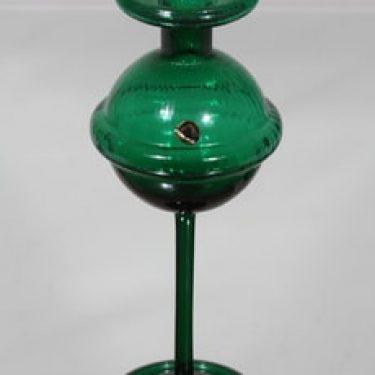 Riihimäen lasi Sulttaani kynttilänjalka, vihreä, suunnittelija Nanny Still,