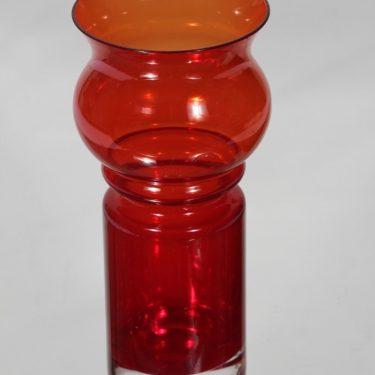 Riihimäen lasi Tulppaani maljakko, punainen, suunnittelija Tamara Aladin,  kuva 2