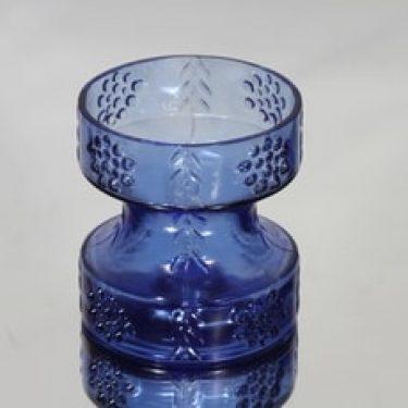 Riihimäen lasi Mesimarja kääntömaljakko, sininen, suunnittelija Tamara Aladin,