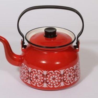 Finel Punahilkka kahvipannu, punainen, suunnittelija , serikuva