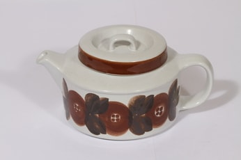 Arabia Rosmarin teekaadin, 1.35 l, suunnittelija Ulla Procope, 1.35 l, käsinmaalattu, 1.35 l