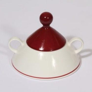 Arabia Harlekin sokerikko, Red Hat, suunnittelija Inkeri Leivo, Red Hat, serikuva, Red Hat
