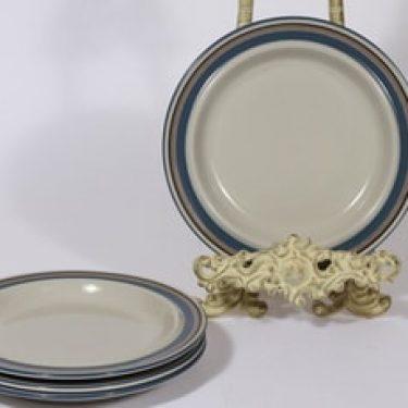 Arabia Uhtua lautaset, 4 kpl, suunnittelija Inkeri Leivo, pieni