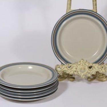 Arabia Uhtua lautaset, 6 kpl, suunnittelija Inkeri Leivo, pieni