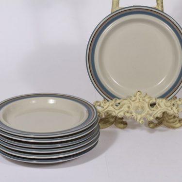 Arabia Uhtua lautaset, 7 kpl, suunnittelija Inkeri Leivo, pieni