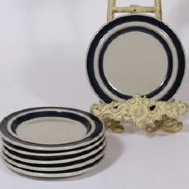 Arabia Anemone lautaset, sininen, 6 kpl, suunnittelija Ulla Procope, pieni
