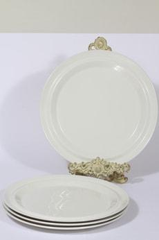 Arabia Moreeni lautaset, valkoinen, 4 kpl, suunnittelija Heikki Orvola, suuri