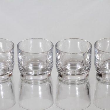 Nuutajärvi Prisma lasit, 10 cl, 4 kpl, suunnittelija Kaj Franck, 10 cl