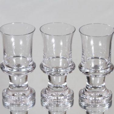 Iittala Tavastia lasit, 8 cl, 3 kpl, suunnittelija Tapio Wirkkala, 8 cl