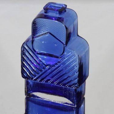 Riihimäen lasi Isoäiti koristepullo, sininen, suunnittelija Helena Tynell,