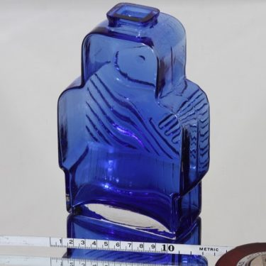 Riihimäen lasi Isoäiti koristepullo, sininen, suunnittelija Helena Tynell,  kuva 2