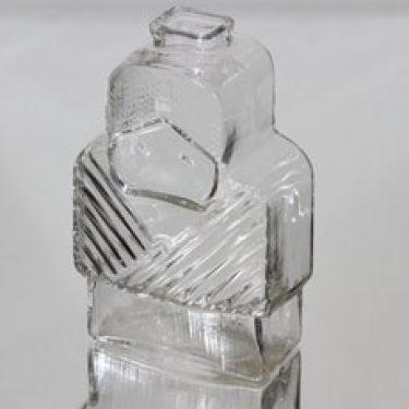Riihimäen lasi Isoäiti koristepullo, kirkas, suunnittelija Helena Tynell,