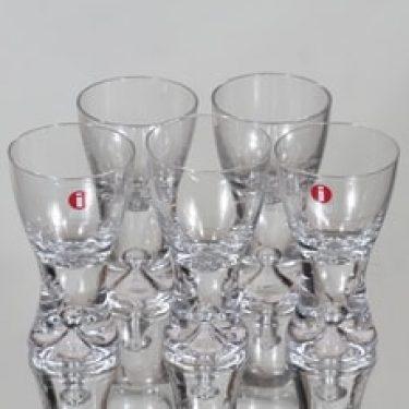 Iittala Tapio lasit, 4 cl, 5 kpl, suunnittelija Tapio Wirkkala, 4 cl, pieni, 4 cl