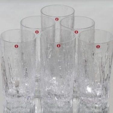 Iittala Kuura lasit, 30 cl, 6 kpl, suunnittelija Tapio Wirkkala, 30 cl, 30 cl