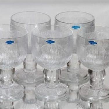 Nuutajärvi Pioni lasit, 20 cl, 5 kpl, suunnittelija Oiva Toikka, 20 cl, 20 cl