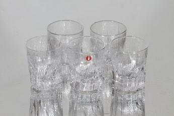 Iittala Kelo lasit, 2 cl, 5 kpl, suunnittelija Tapio Wirkkala, 2 cl, pieni, 2 cl