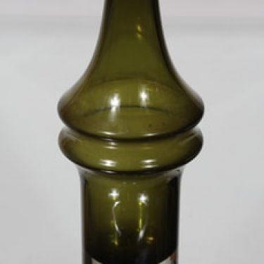 Riihimäen lasi 1464 maljakko, vihreä, suunnittelija Tamara Aladin,