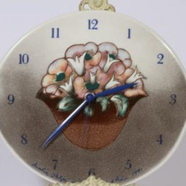 Arabia kello, Aika kukkien, suunnittelija Heljä Liukko-Sundström, Aika kukkien, suuri, Aika kukkien