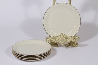 Arabia Kultakorva leivoslautaset, 6 kpl, suunnittelija , raitakoriste