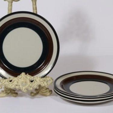 Arabia Kaira lautaset, matala, 4 kpl, suunnittelija Anja Jaatinen-Winquist, matala, raitakoriste, matala