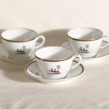 Arabia Diana kahvikupit, 3 kpl, suunnittelija , art deco