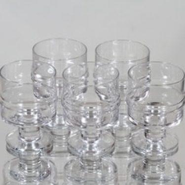 Iittala Pisararengas lasit, 8 cl, 5 kpl, suunnittelija Timo Sarpaneva, 8 cl, 8 cl
