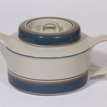 Arabia Uhtua teekaadin, 1.35 l, suunnittelija Inkeri Leivo, 1.35 l, raitakoriste, 1.35 l