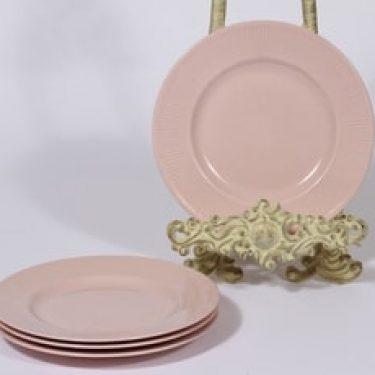 Arabia Sointu lautaset, rosa, 4 kpl, suunnittelija Kaj Franck, pieni
