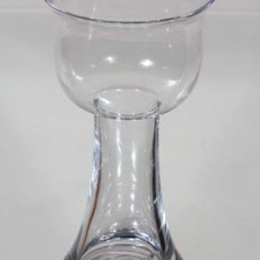 Riihimäen lasi Lootus maljakko, kirkas, suunnittelija Nanny Still, suuri