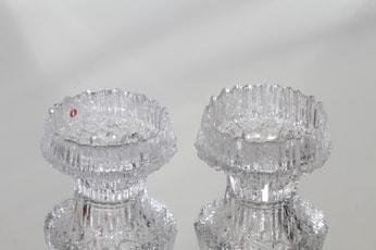 Iittala Stellaria tiukkulyhty, kirkas, 2 kpl, suunnittelija Tapio Wirkkala,